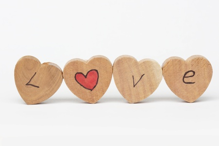 Wooden blocks with I love you text photo