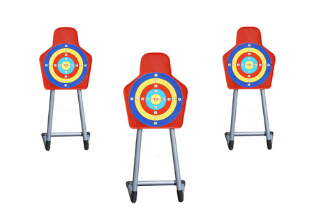 Targets on white background