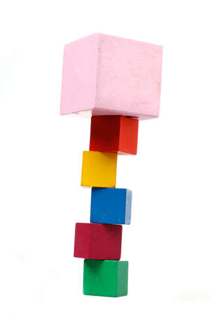 wooden toy blocks - risk concept