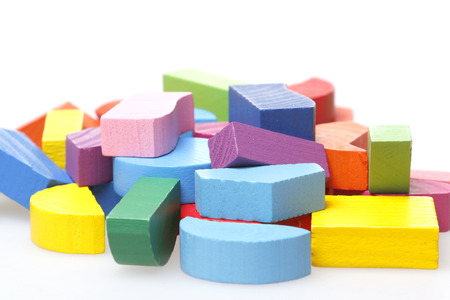 Colorful wooden toy Stock Photo