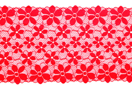 applique flower: Red lace Stock Photo