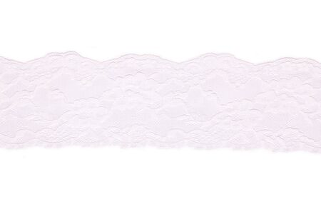 White lace on white background Stock Photo