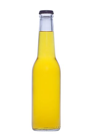 A bottle of drink on white background