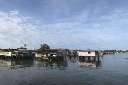 huizen boven het water Stockfoto