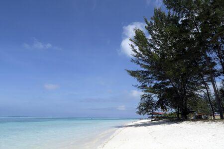 Blue sea and sandy beach