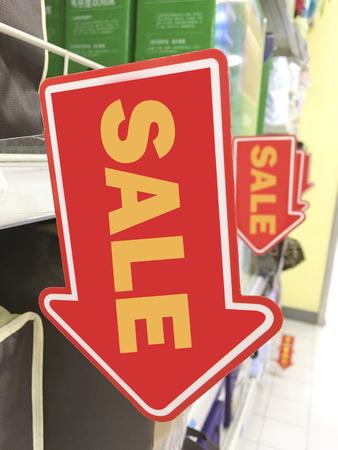 tekens van de verkoop