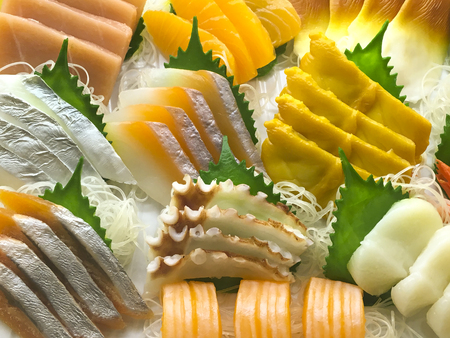 Fish slices of Sushi