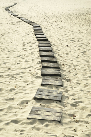 Wooden path to the sea