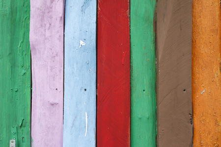 Colorful background of wooden panels