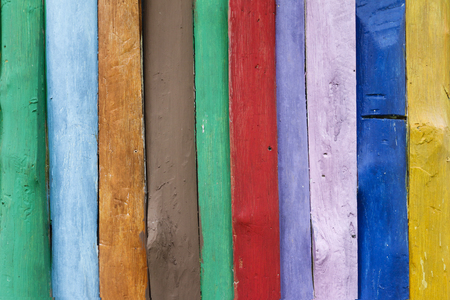Colorful wooden background