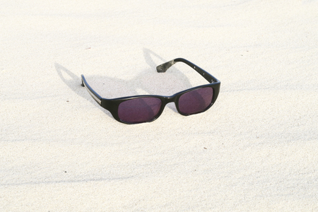 Glasses on beach Editorial