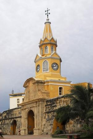 clock tower cartagena de indias, colombia Stock Photo
