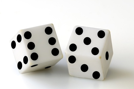 dice on a white background photo