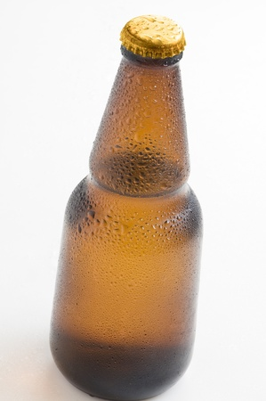 beer bottle with white lid