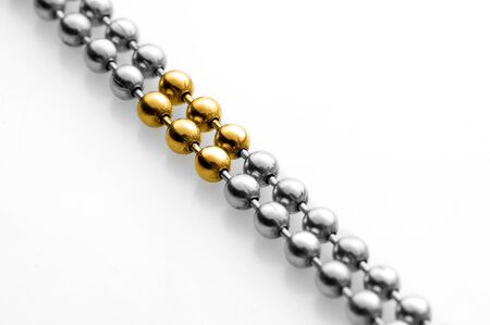gold and silver balls photo