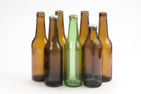 bottles of beer green and yellow