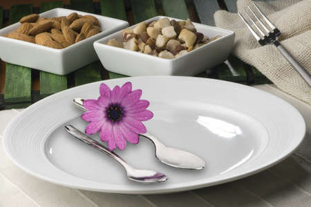 plate, fork, spoon Stock Photo - 12680431