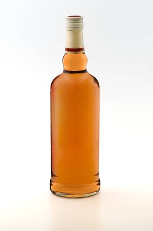whiskey glass: whiskey bottle Stock Photo
