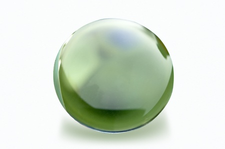 emptying: crystal ball on white background