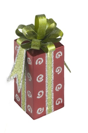 articles of furniture: gift with ribbon and bow.