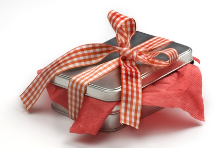 gift with ribbon and bow. photo