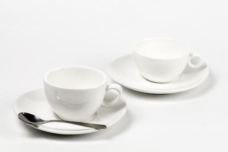 empty white cups Stock Photo - 10763619
