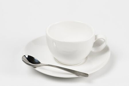 empty white mug Stock Photo - 10763618