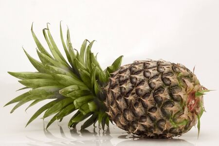 pineapple on white background Stock Photo - 10763844