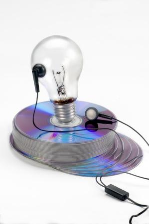 Audio. DVD, CD-ROM, DVD,  De audio  bombilla auriculares