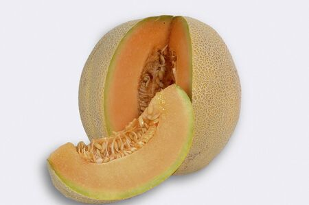 Melon-Fruit on white background
