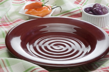 ceramica: dishes, plates, white, table