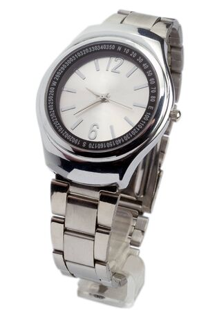 Men s wristwatch in white background Stock Photo