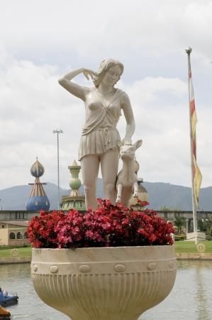 Bust white classic Greek goddess Stock Photo