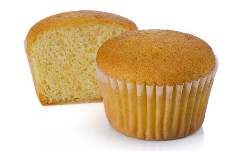 Muffins on white background Stock Photo