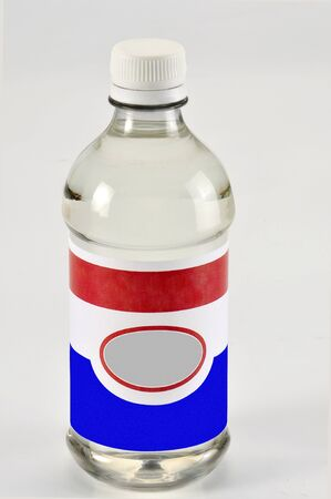 Oil Bottle isolated on white Stock Photo