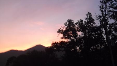 purple sunset Banco de Imagens