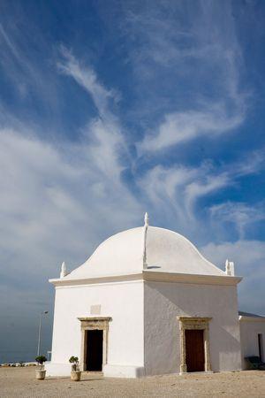 Ericeira church near the beach, Portugal