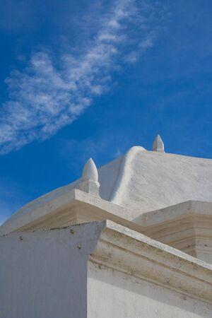 Close up of a landmark monument near ericeira beach in Portugal