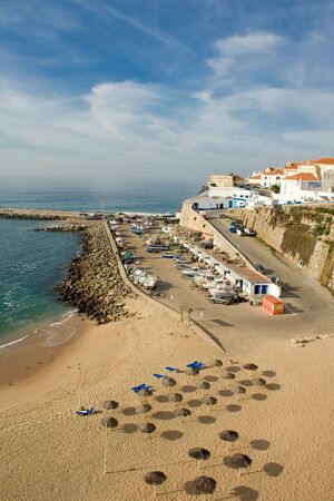Beach of ericeira fishing village, portugal