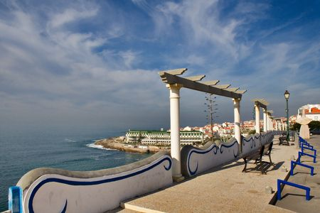 View of Ericeira Village, Portugal Stock Photo
