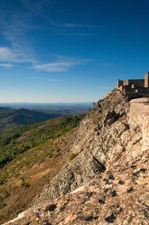 Marvao castle at Serra de S. Mamede in Alentejo, Portugal Stock Photo