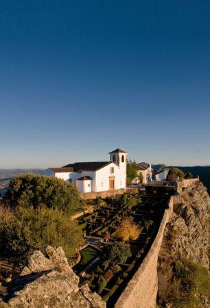 Marvao village at Serra de S. Mamede in Alentejo, Portugal Stock Photo