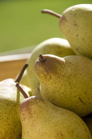 Close up of fresh pears Stock Photo
