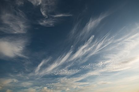 Beautiful cloudy blue sky background Stock Photo