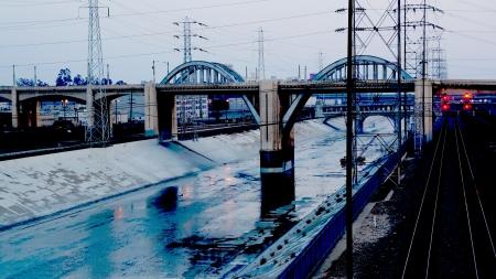 overexposed: Artfully Overexposed Los Angeles Bridge