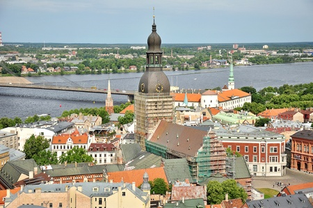 View of Old Riga from the St  Peter photo