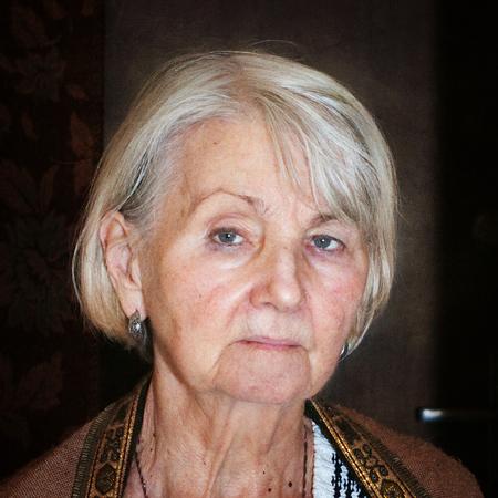 serious elderly woman photo