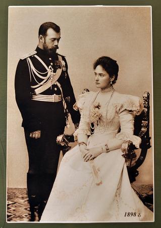 Russian Emperor Nicholas II, his wife Empress Alexandra Feodorovna