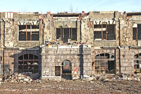 destroyed old building Stock Photo