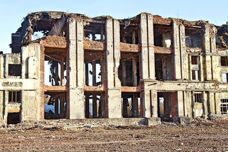 slut: destroyed old building Stock Photo